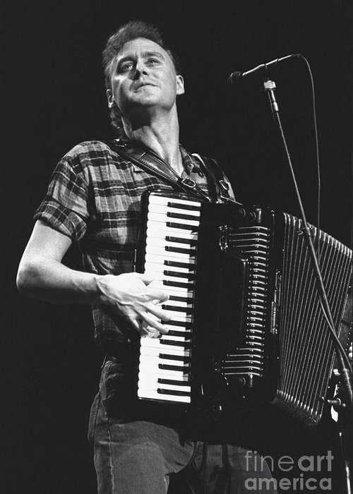 Singer Greeting Card featuring the photograph Bruce Hornsby by Concert Photos
