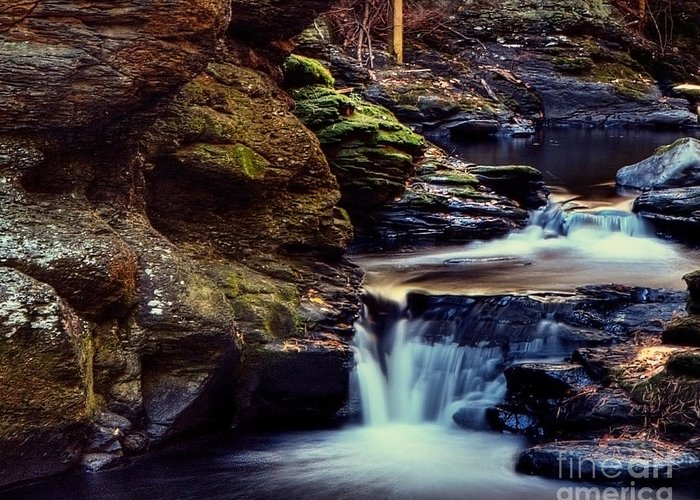 Waterfall Greeting Card featuring the photograph Bushkill Falls by Emily Kay