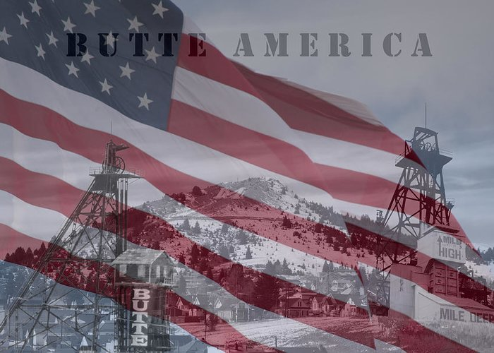Butte America Photographs Greeting Card featuring the photograph Butte America by Kevin Bone