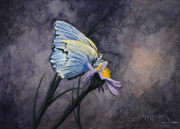 Bob Hallmark Greeting Card featuring the painting Butterfly by Bob Hallmark