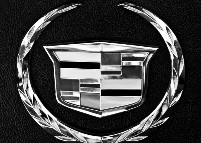 Cadillac Greeting Card featuring the photograph Cadillac Emblem by Jill Reger
