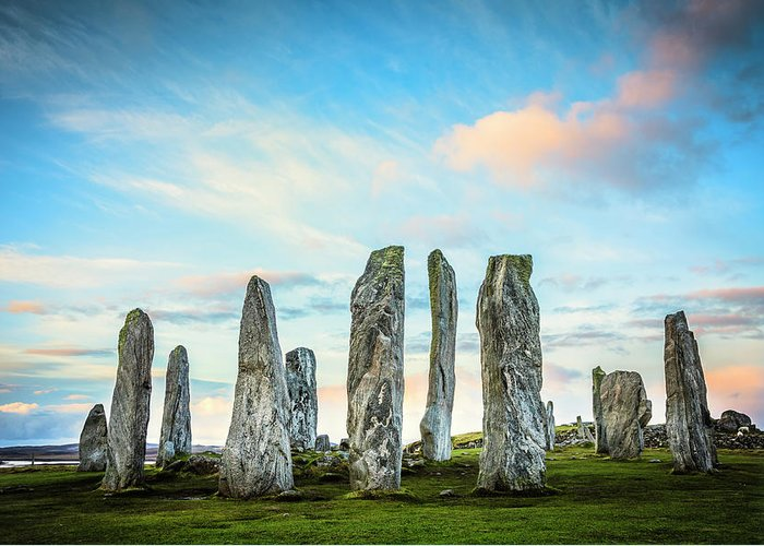 Prehistoric Era Greeting Card featuring the photograph Callanish Standing Stones, Isle Of Lewis by Theasis
