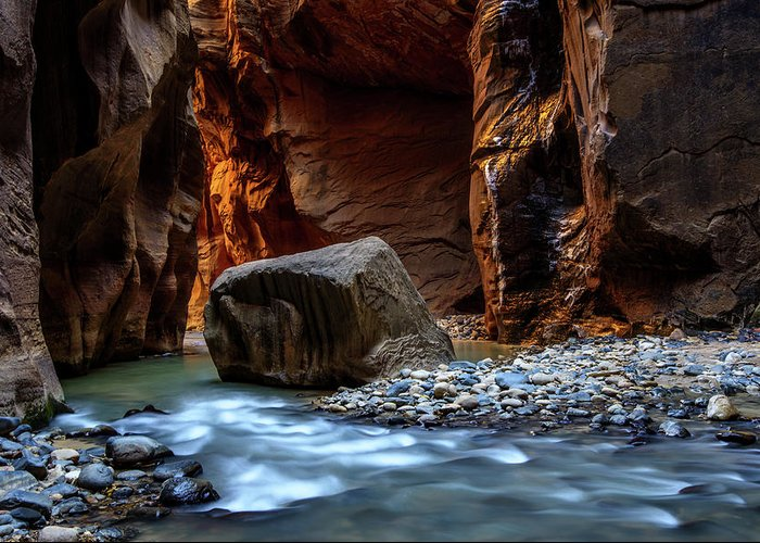 Scenics Greeting Card featuring the photograph Canyon by Piriya Photography