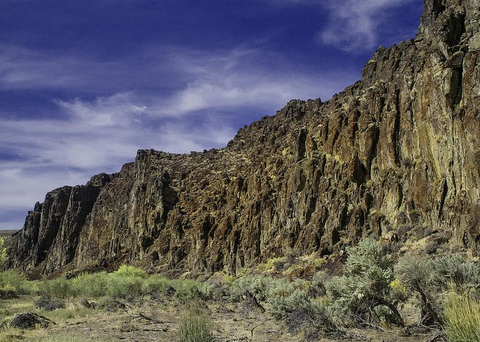Cordero Road Greeting Card featuring the photograph Canyon Walls 3 by Karen W Meyer