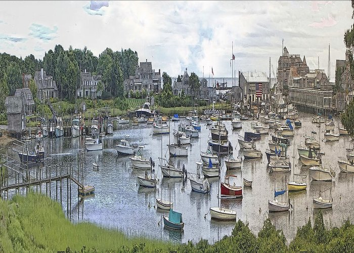 Cape Cod Americana Greeting Card featuring the photograph Cape Cod Americana Wychmere Harbor by Constantine Gregory