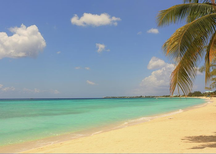 Scenics Greeting Card featuring the photograph Caribbean Dream Beach by Shunyufan