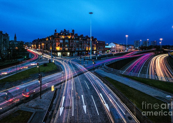 Cityscape Framed Prints Greeting Card featuring the photograph Charing Cross Glasgow by John Farnan