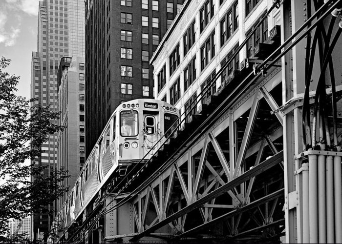 Elevated Greeting Card featuring the photograph Chicago Loop 'l' by Christine Till