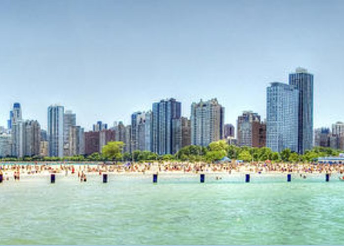 Chicago Greeting Card featuring the photograph Chicago North Avenue Beach by Patrick Warneka