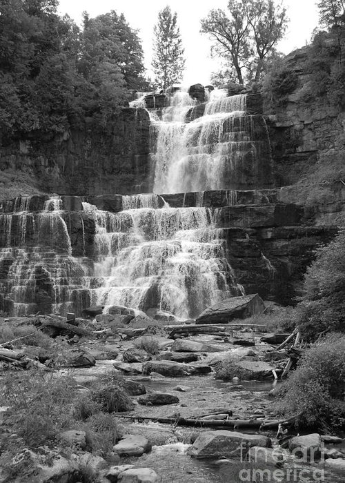 Waterfalls Greeting Card featuring the photograph Chittenango Falls by Anne Marie Corbett
