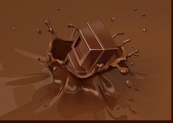 Chocolate Milkshake Greeting Cards