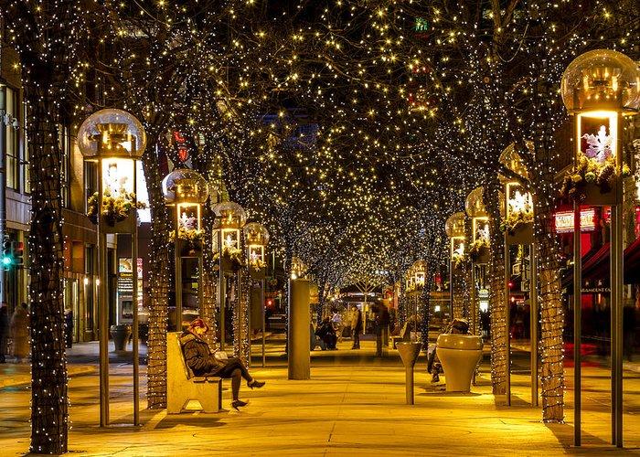 Christmas In Denver Colorado.Christmas In Denver Colorado Greeting Card