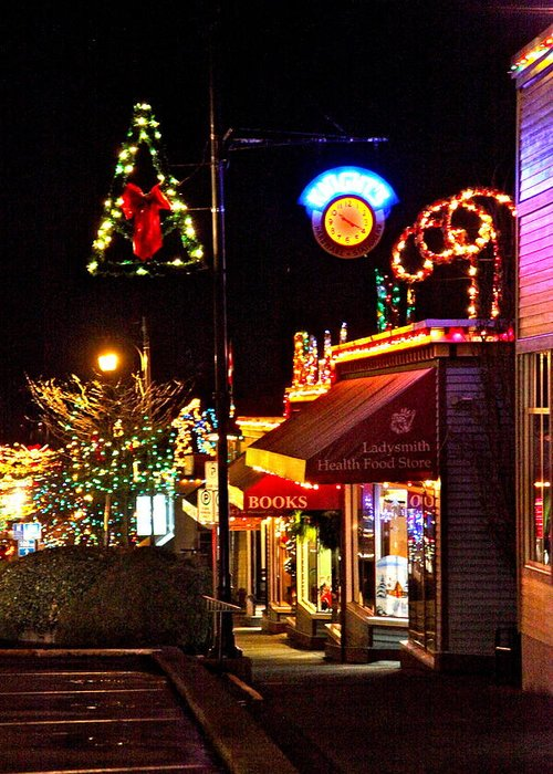 Christmas Greeting Card featuring the photograph Christmas In Ladysmith by Ron Ritchey