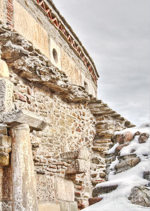 Ancient Greeting Card featuring the photograph Church Detail by Gabriela Insuratelu