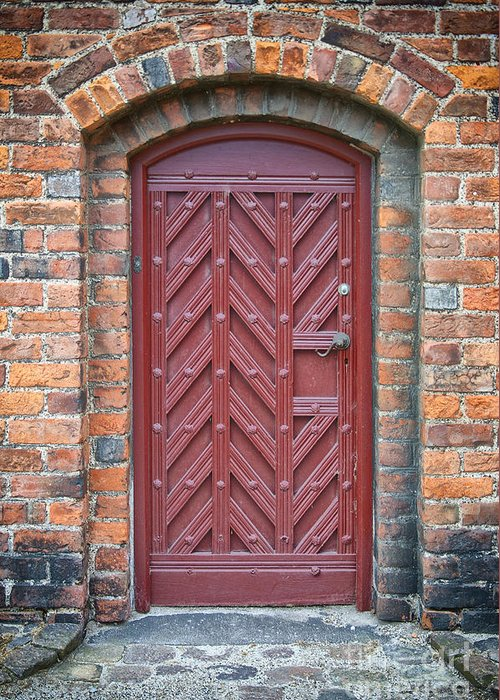 Entrance Greeting Card featuring the photograph Church Door 02 by Antony McAulay