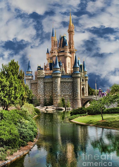 Snow White Greeting Card featuring the photograph Cinderella Castle II by Lee Dos Santos