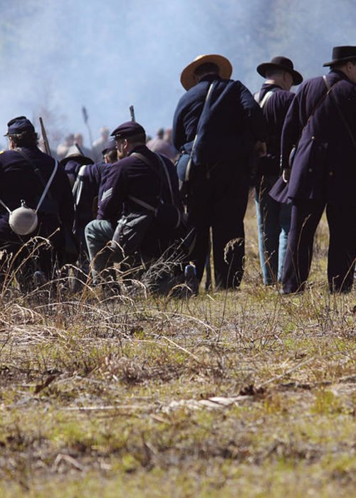 Civil Greeting Card featuring the photograph Civil War by Kitty Ellis