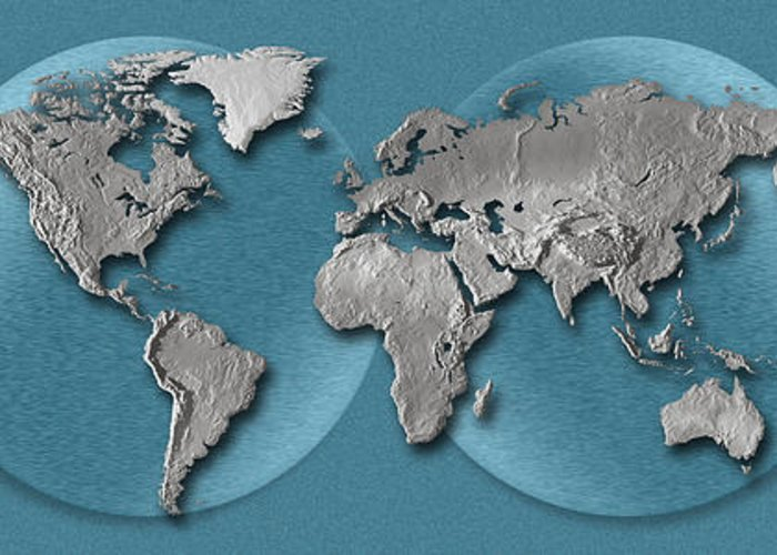 Geographical Locations Greeting Cards