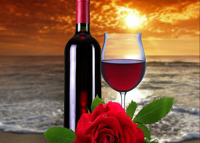 Rose.wine Greeting Card featuring the photograph Closing Time by Manfred Lutzius