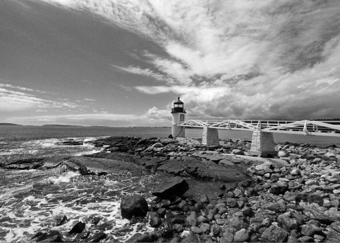 Lighthouse Greeting Card featuring the photograph Coastal by Becca Brann