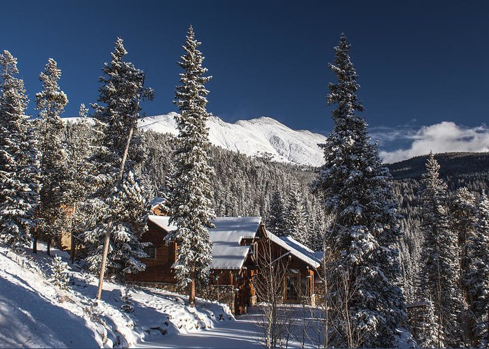 Landscape Greeting Card featuring the photograph Colorado Mountain House by Michael J Bauer