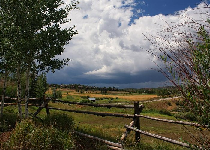 Landscape Greeting Card featuring the photograph Colorado Ranch by Michael J Bauer