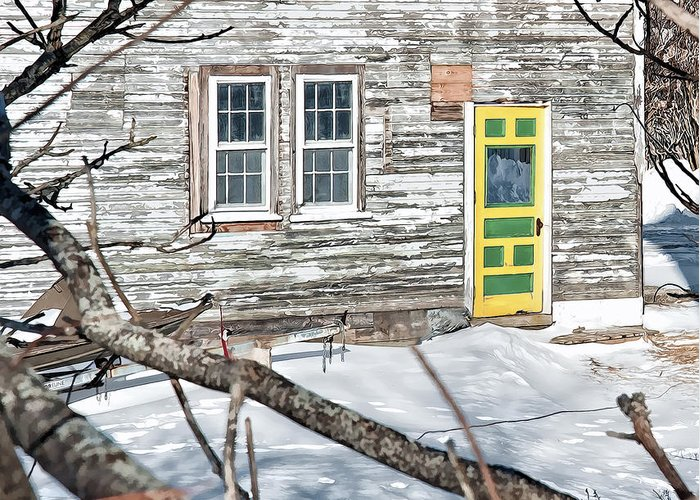 Architectural Greeting Card featuring the photograph Colorful Doorway by Richard Bean