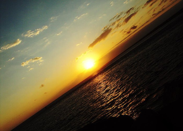 Cape Cod Greeting Card featuring the photograph Crooked Sunrise by MPG Artworks
