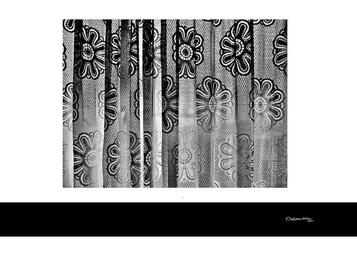 Curtained Window Greeting Card featuring the digital art Curtained Window by Xoanxo Cespon
