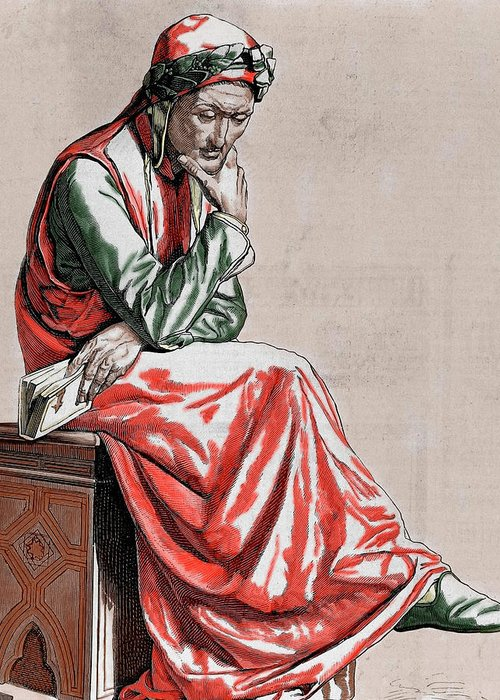 Man Seated On Stool Greeting Cards