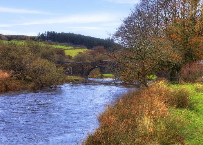 Two Bridges Greeting Card featuring the photograph Dartmoor - Two Bridges by Joana Kruse