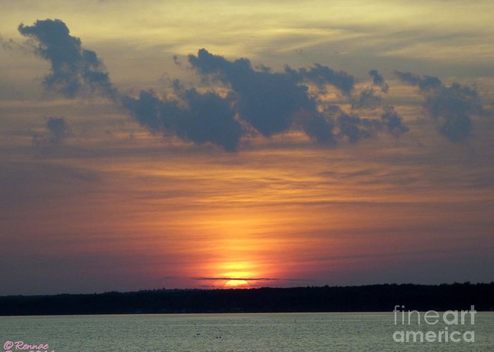Sun Greeting Card featuring the photograph Day's End by Rennae Christman