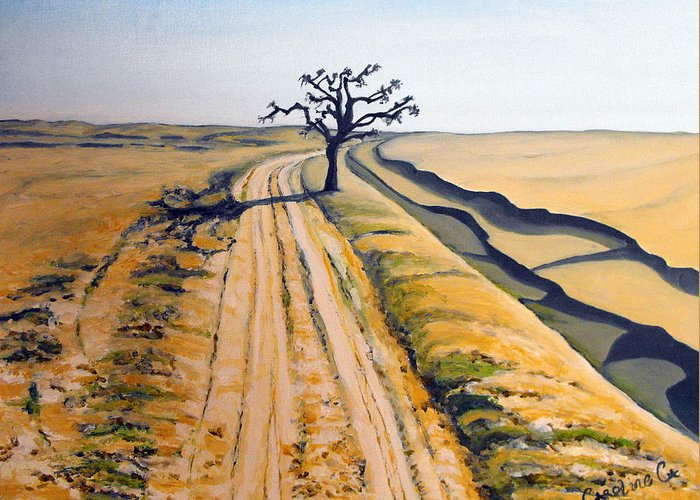 India Greeting Card featuring the painting Desert Neem by Caroline Cunningham