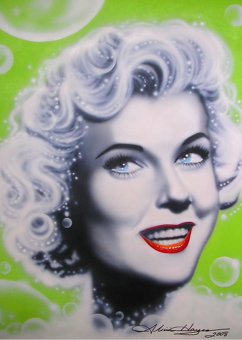 Doris Day Greeting Card featuring the painting Doris Day by Alicia Hayes