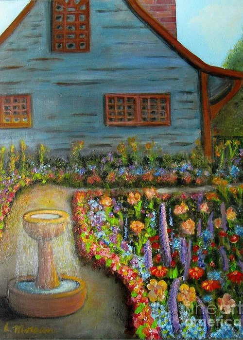 Garden Greeting Card featuring the painting Dream Garden by Laurie Morgan
