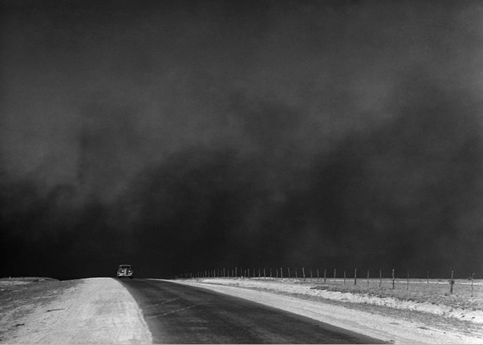 1936 Greeting Card featuring the photograph Dust Bowl, 1936 by Granger