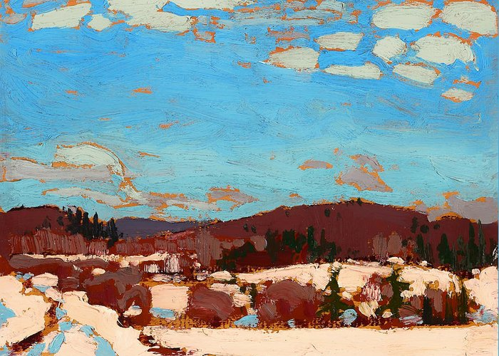 Painting Greeting Card featuring the painting Early Spring by Mountain Dreams
