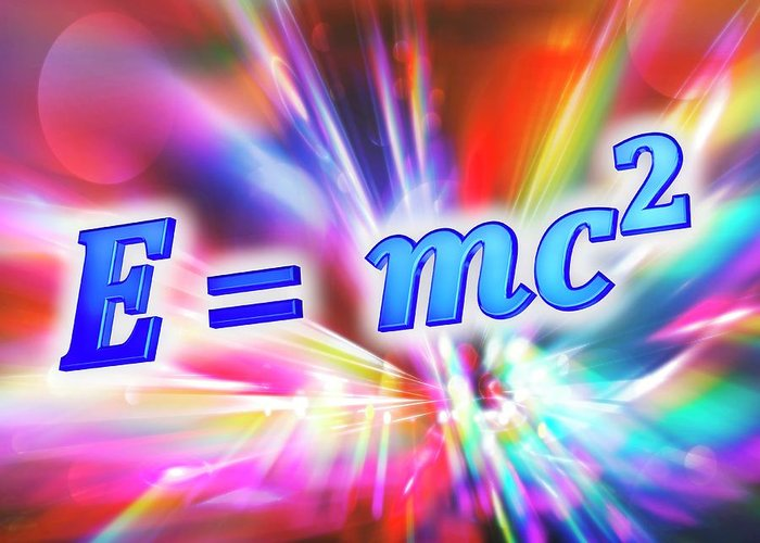 Equation Greeting Card featuring the photograph Einstein's Mass-energy Equation by Alfred Pasieka