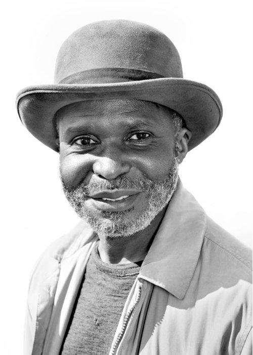 Man Greeting Card featuring the photograph Elderly Black Man by Joe Belanger