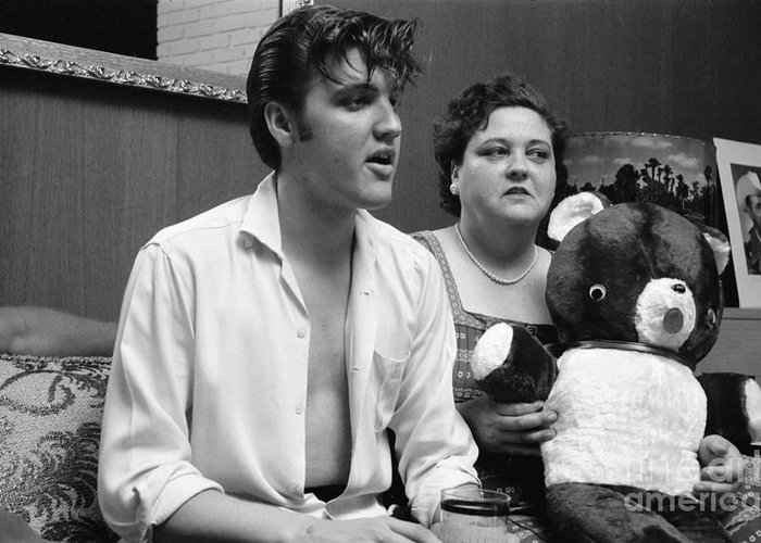 Elvis Photographs Greeting Cards