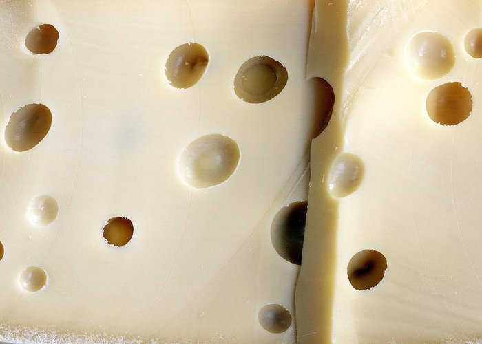 Emmental Greeting Card featuring the photograph Emmental Cheese by Science Photo Library