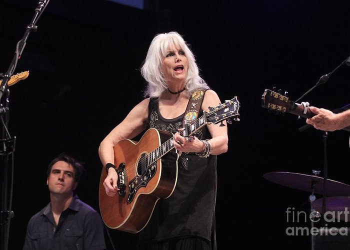 Singer Greeting Card featuring the photograph Emmylou Harris by Concert Photos