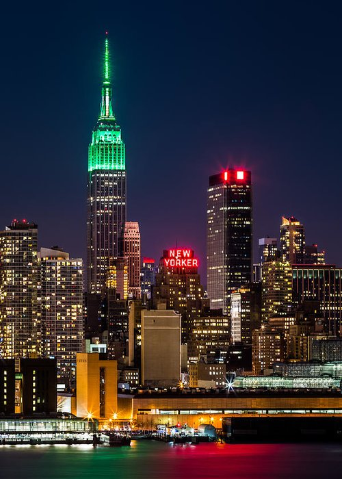 Ireland Greeting Card featuring the photograph Empire State Building on Saint Patrick's Day by Mihai Andritoiu