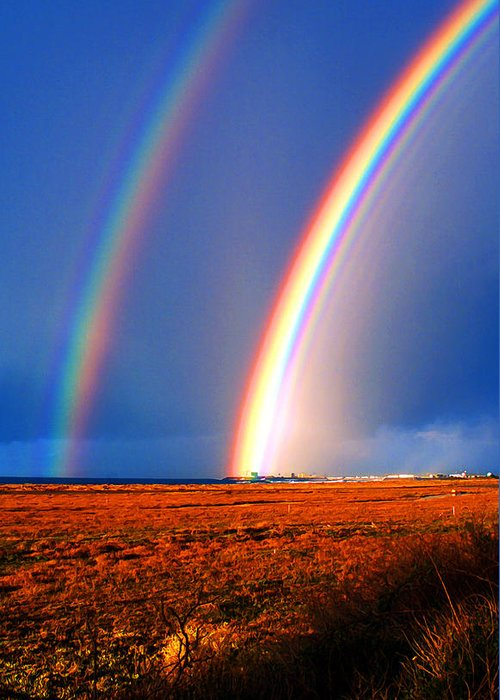 End Of The Rainbow Greeting Card featuring the photograph End Of The Rainbow by Ron Regalado
