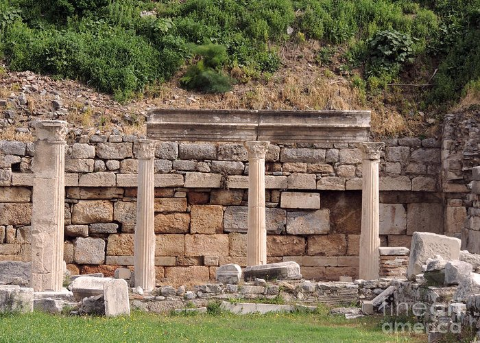 Pompeii Greeting Card featuring the photograph Ephesus by Paul Sandilands