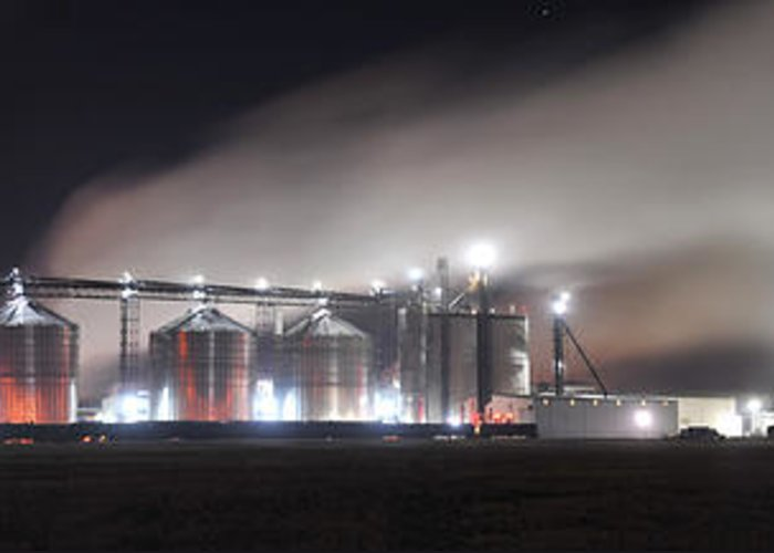 Watertown Greeting Card featuring the photograph Ethanol Plant In Watertown by Dung Ma