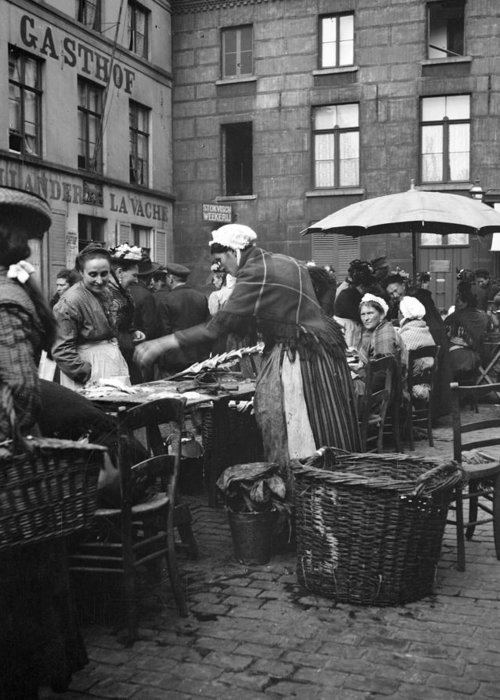 1910 Greeting Card featuring the photograph Europe Market, C1910 by Granger