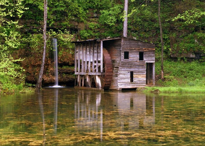 Falling Spring Mill Greeting Card featuring the photograph Falling Spring Mill by Marty Koch