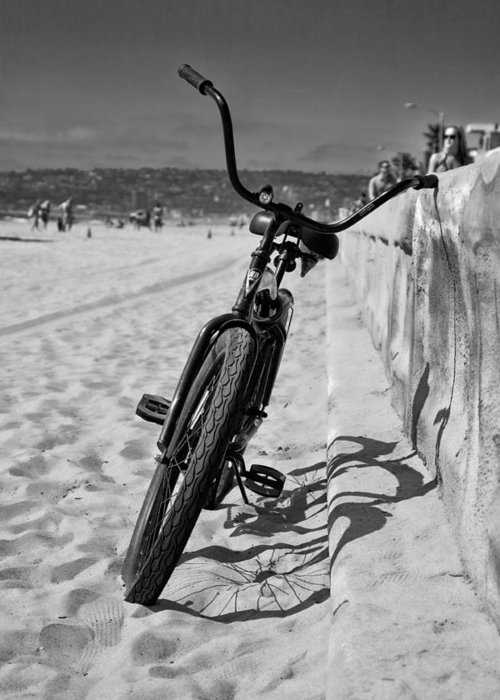 Beach Greeting Card featuring the photograph Fat Tire by Peter Tellone