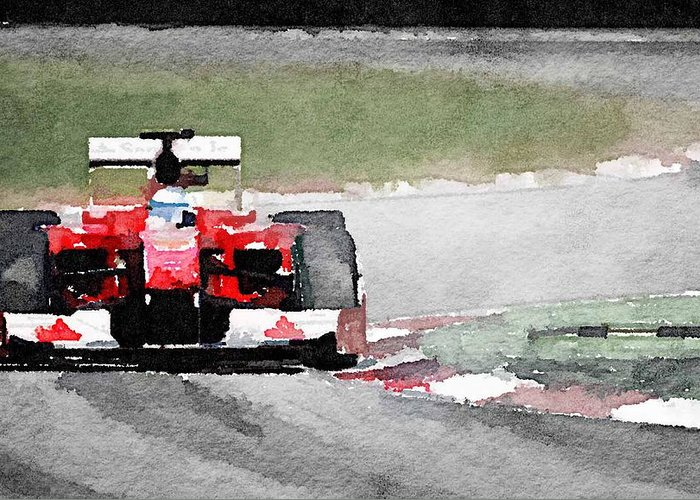 Racing Ferrari Greeting Cards